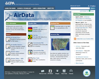 Air Data website
